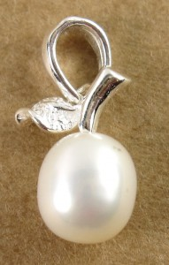perla con porta ciondolo a foglia